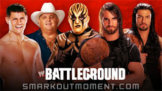 WWE The Shield vs Cody Rhodes & Goldust at Battleground 2013 PPV