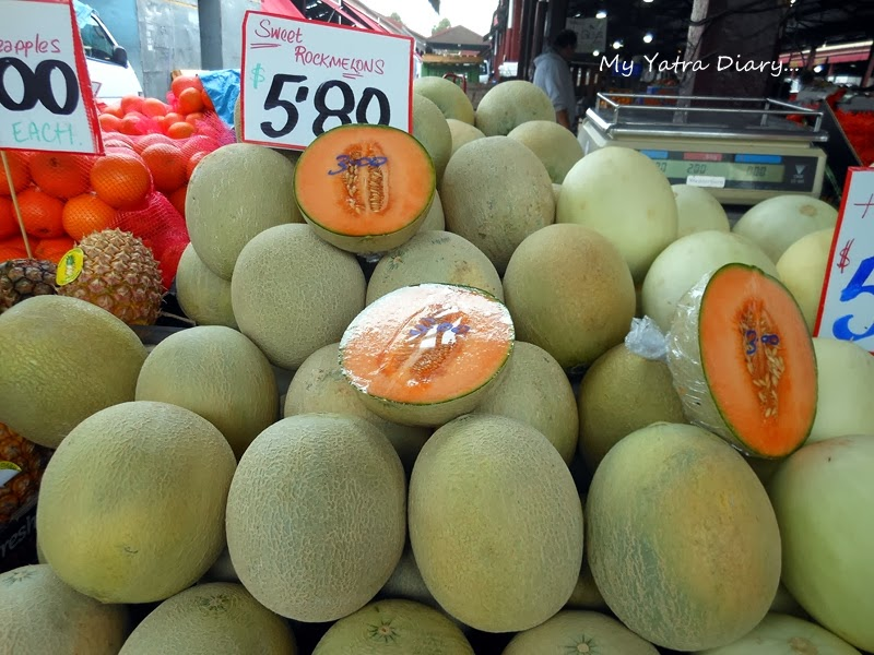 Muskmelon at Queen Victoria Market, Melbourne