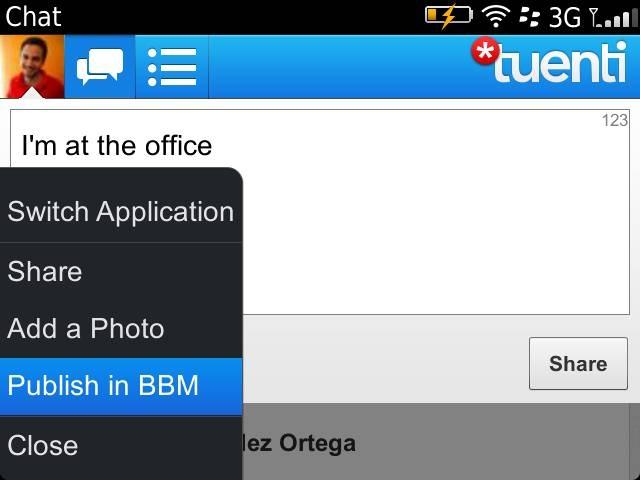 Tuenti Social Messenger Blackberry