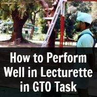 How to Perform Well in Lecturette in GTO Task