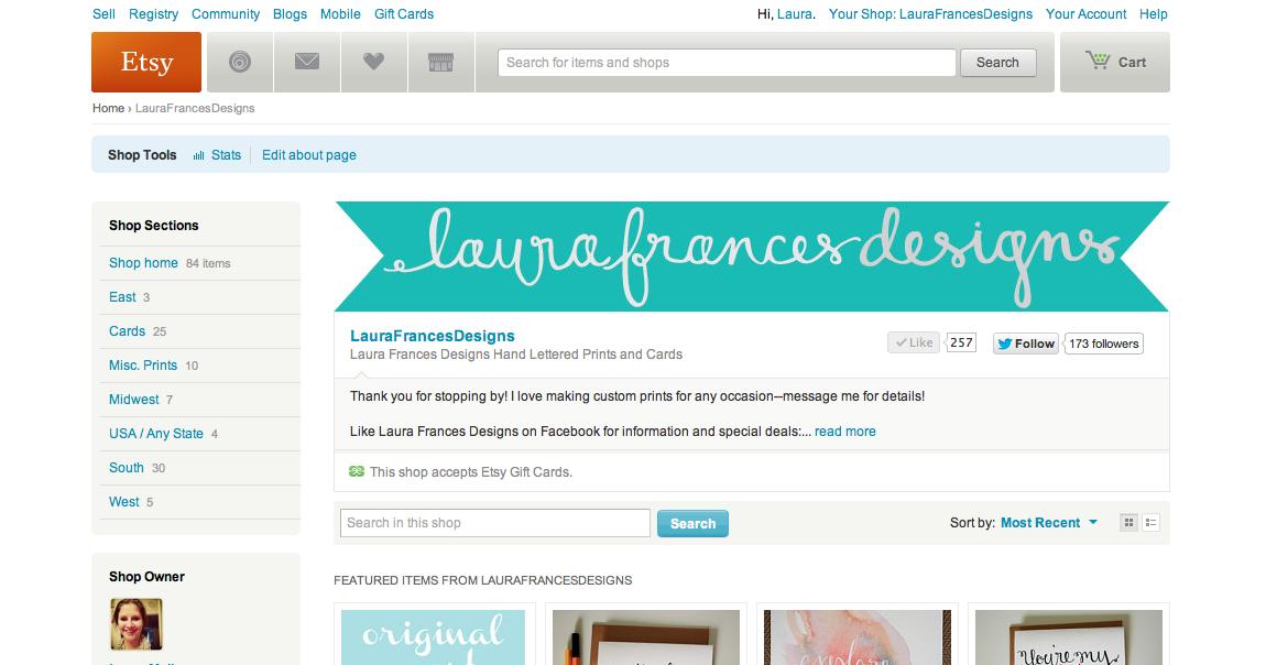laura frances design blog: Etsy Shop Tips