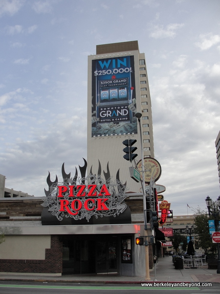 exterior of Pizza Rock in Downtown Las Vegas, Nevada