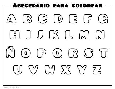 Alfabeto para imprimir y colorear