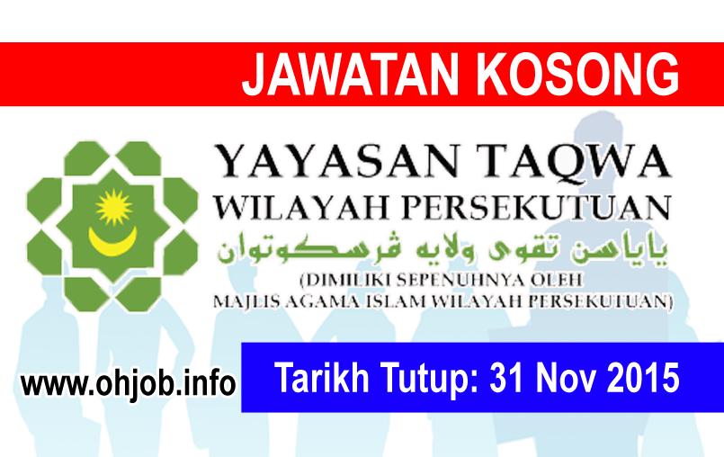 Jawatan Kerja Kosong Yayasan Taqwa Wilayah Persekutuan (YTWP) logo www.ohjob.info november 2015