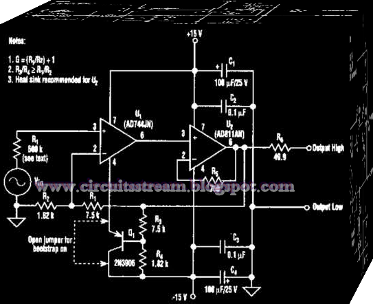 Simple Bootstrap Circuit    Diagram      Electronic Circuit