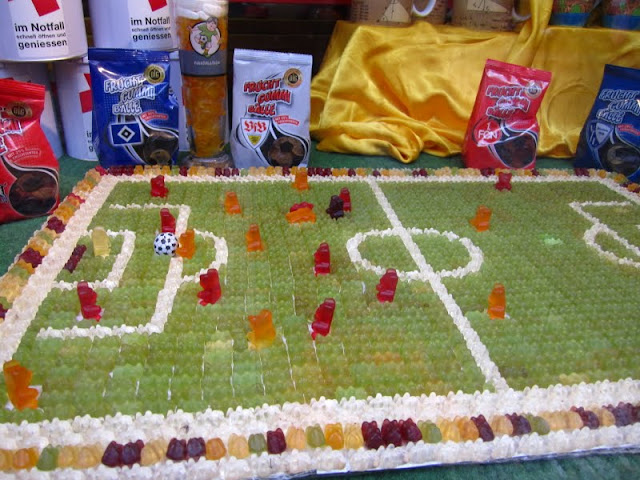 Gummy bear soccer match in Heidelberg, Germany.