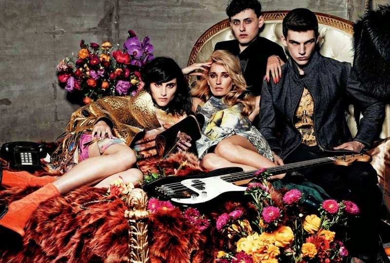 Just Cavalli Fall/Winter 2014 Campaign starring Langley Fox Hemingway and others