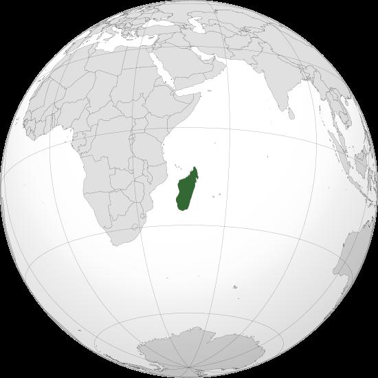 Globo Terráqueo Madagascar