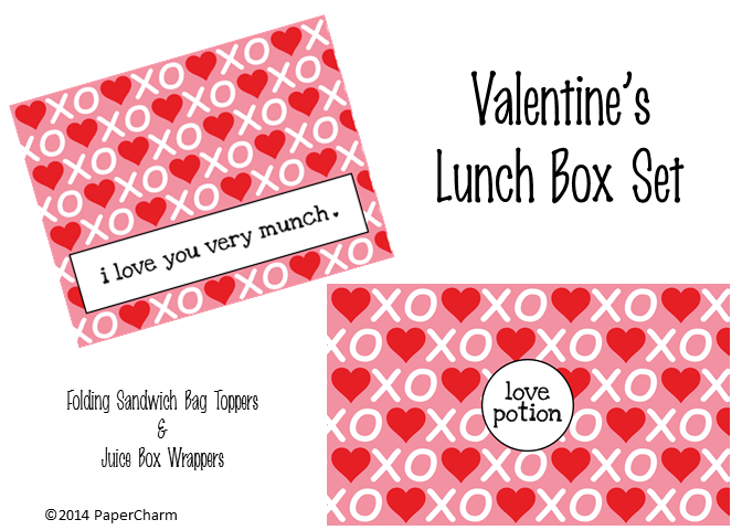 Valentine's Day Lunch Box Printables