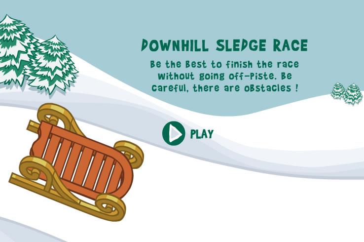 Kids Game : Downhill Sledge Race