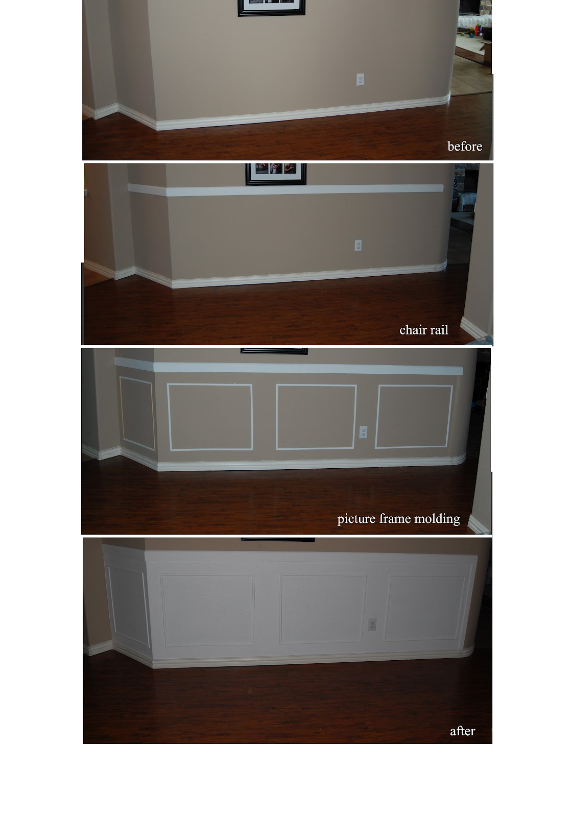 Style with wisdom my love affair with wainscoting did i mention i love wainscoting what a huge transformation for very little time and money each piece of trim only cost 85 cents per foot jeuxipadfo Images