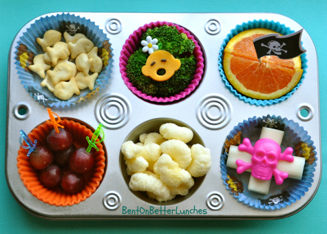 Pirate Theme Muffin Tin Meal