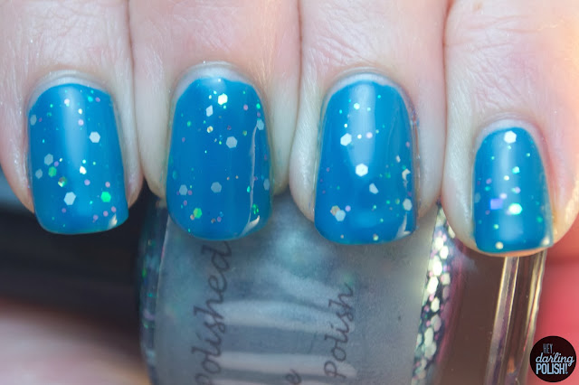nails, nail polish, indie, indie polish, indie friday, live life polished, blueberry surprise, blue, glitter