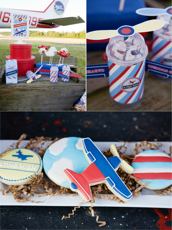 Little Aviator Airplane Inspired Birthday Party Desserts
