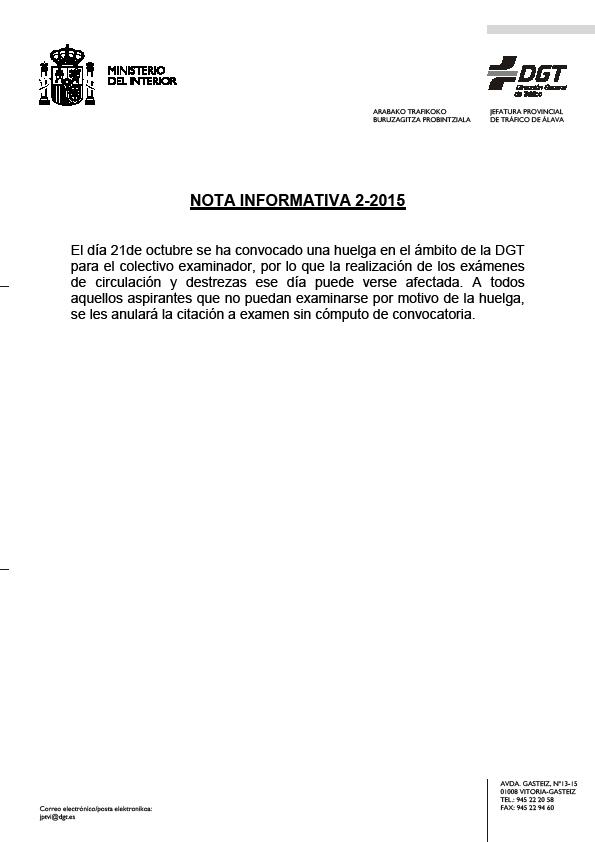 Autoescuela lovaina vitoria gasteiz contin a la huelga - Jefatura provincial de trafico de cantabria ...
