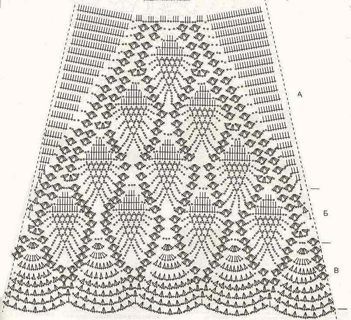 Крючок юбки схемы рисунки