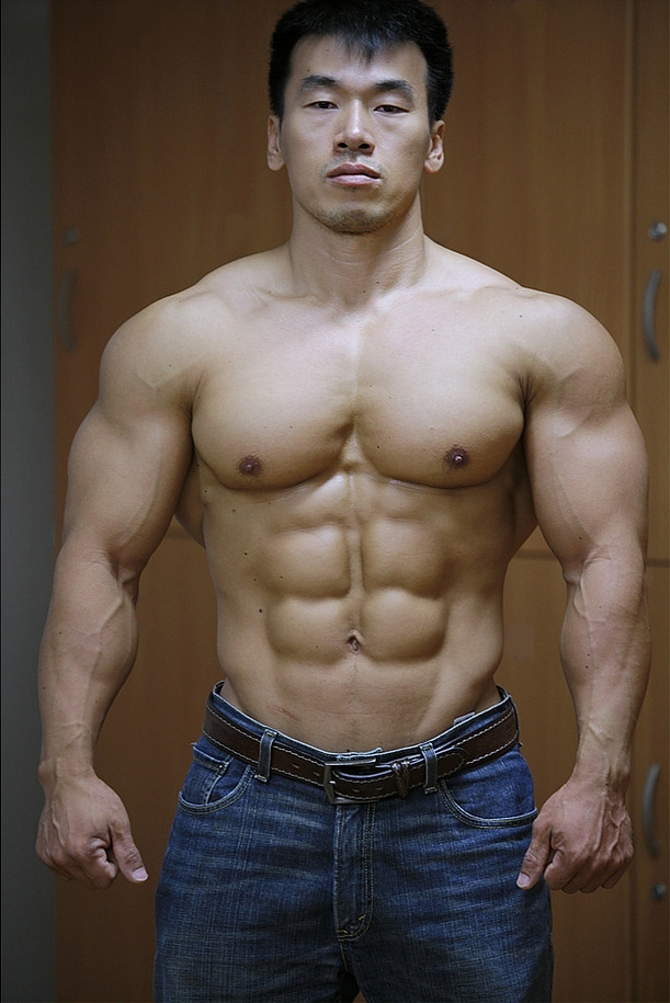 Asian man muscular whore