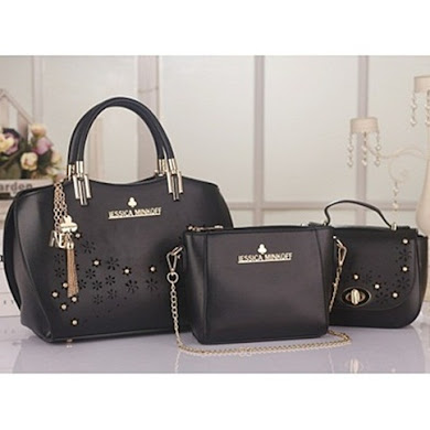JESSICA MINKOFF (3 IN 1 SET) - BLACK