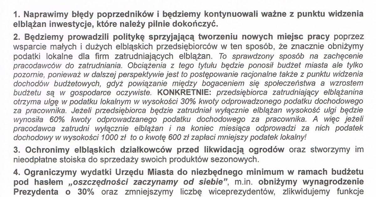 Solidarna polska w elbl gu nasz program dla elbl ga w for Cie no 85 table 4