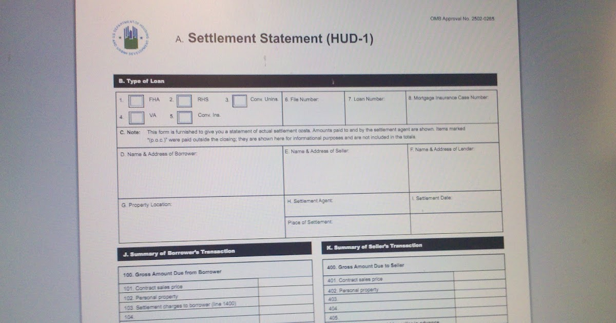 How to read a HUD Settlement Statement | LINDA'S LAW BLOG ...