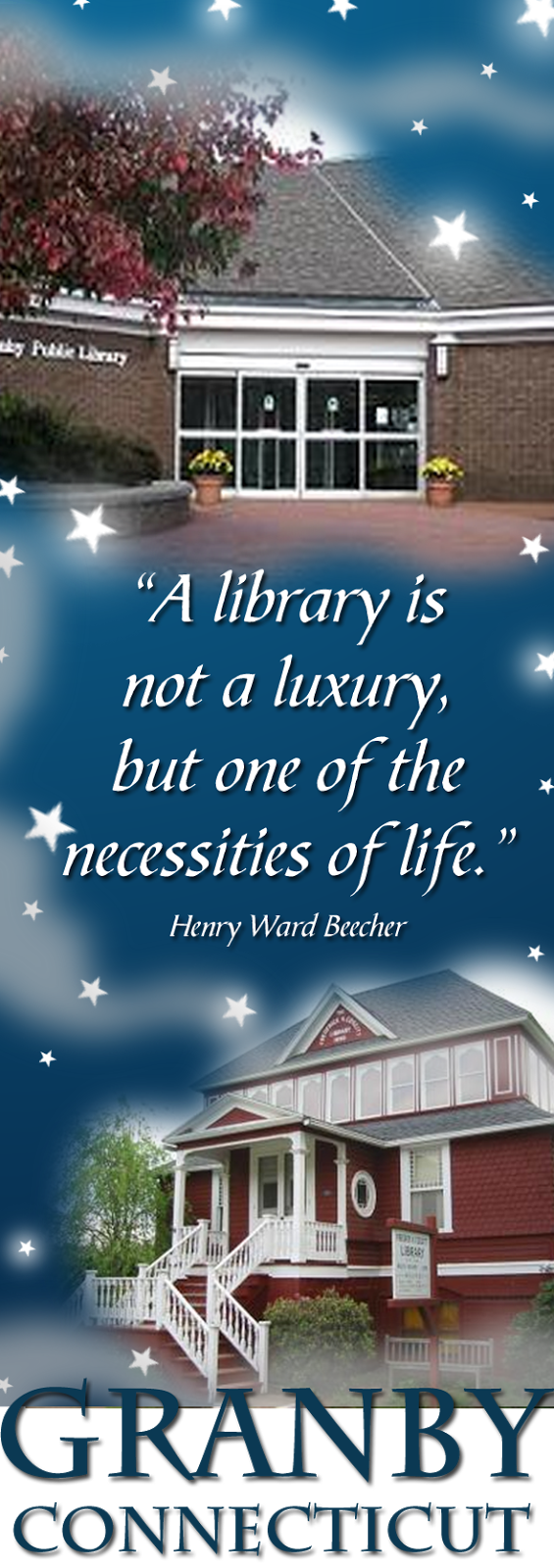 I ♥ Granby, CT Public Libraries!