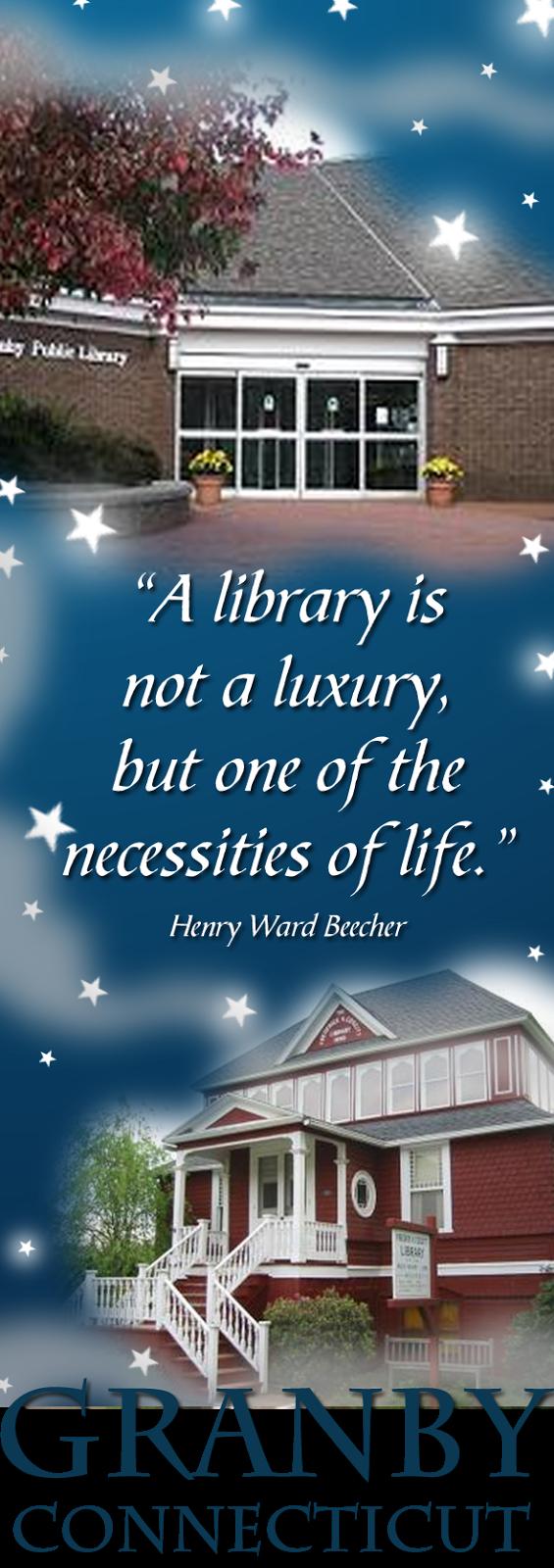 I ♥ Granby, CT Public Libraries!