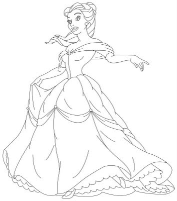 Belle Coloring Pages