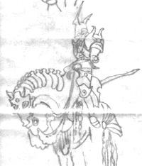 Iron Horse Knight Drawing