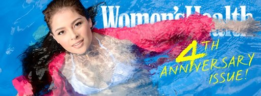 Andi Eigenmann soak'n hot on Women's Health 4th anniversary (April 2013) issue