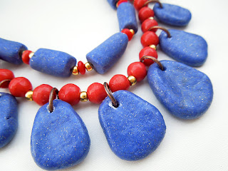 Egyptian style blue necklace