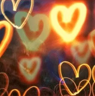 des lumiere en forme de coeur