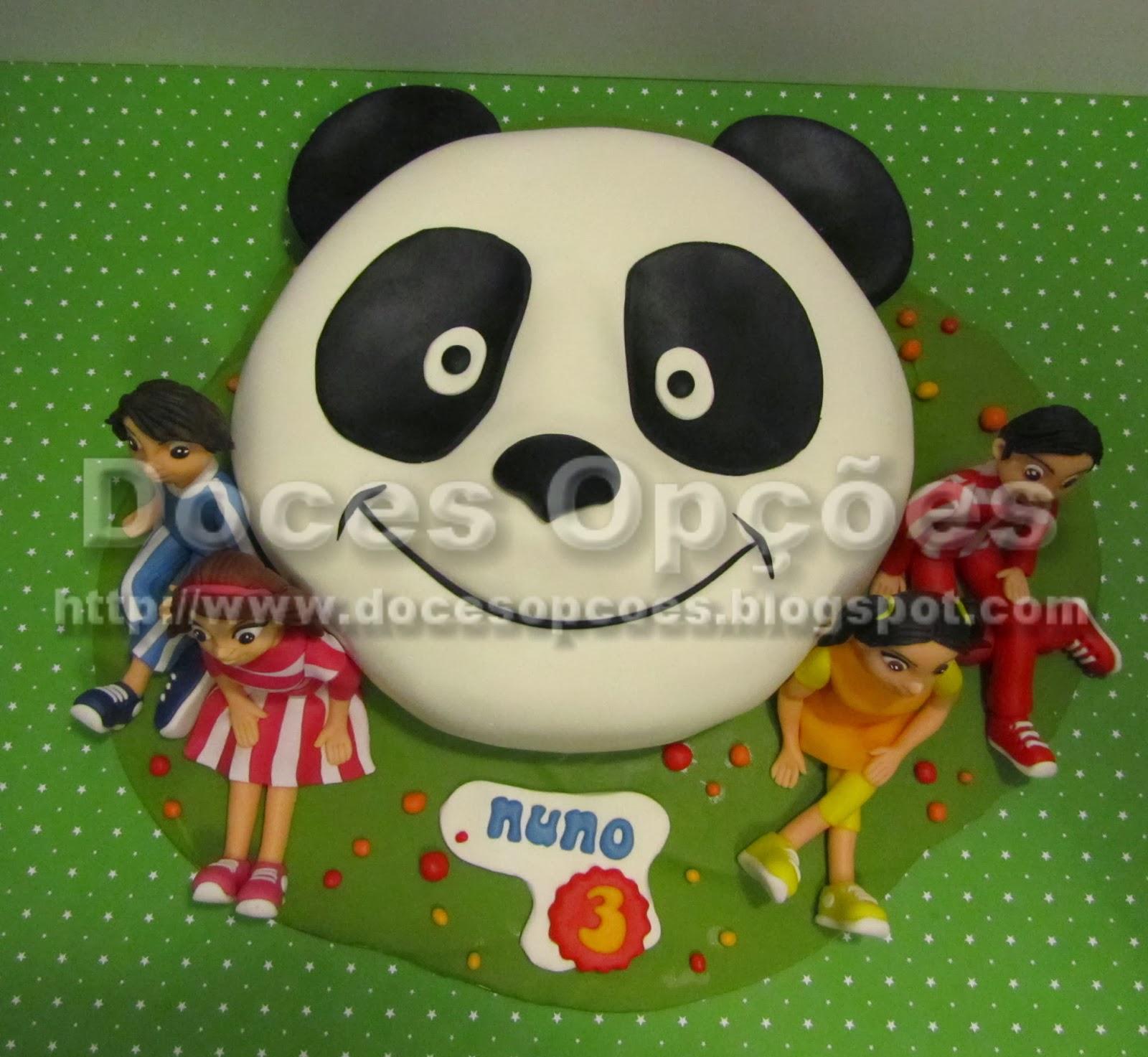 Bolo do Panda com os Caricas