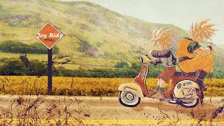 Gohan & Goku one Bike
