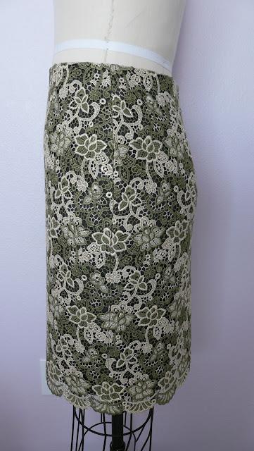 Lace and chiffon dress