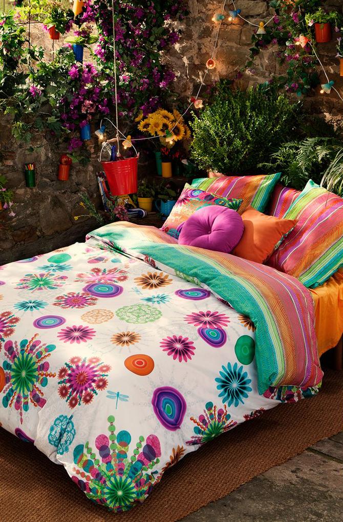 Decoración con textiles de colores - homepersonalshopper