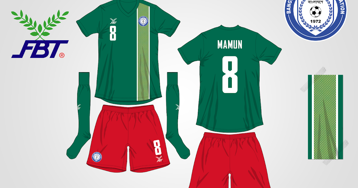 Bangladesh National Football Team Fantasy Home Kit FBT