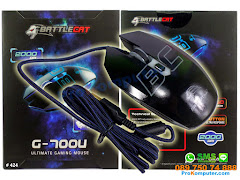 Mouse Gaming BattleCat G700U 5 tombol 2000DPI