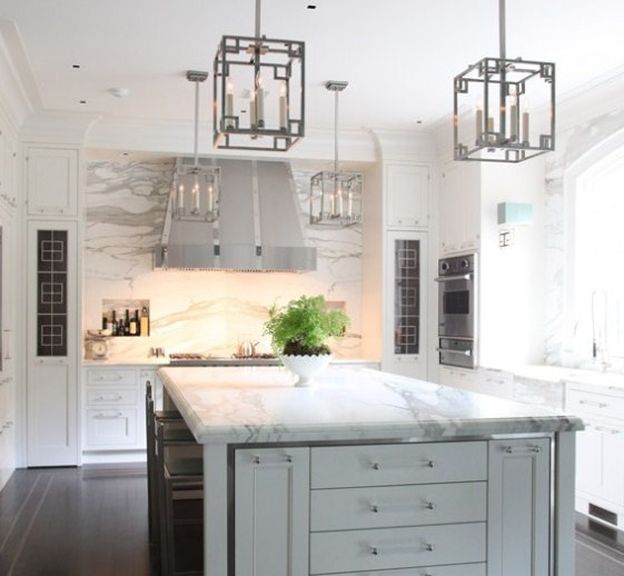 Return To Home The TwoToned Kitchen - Dove grey kitchen cabinets