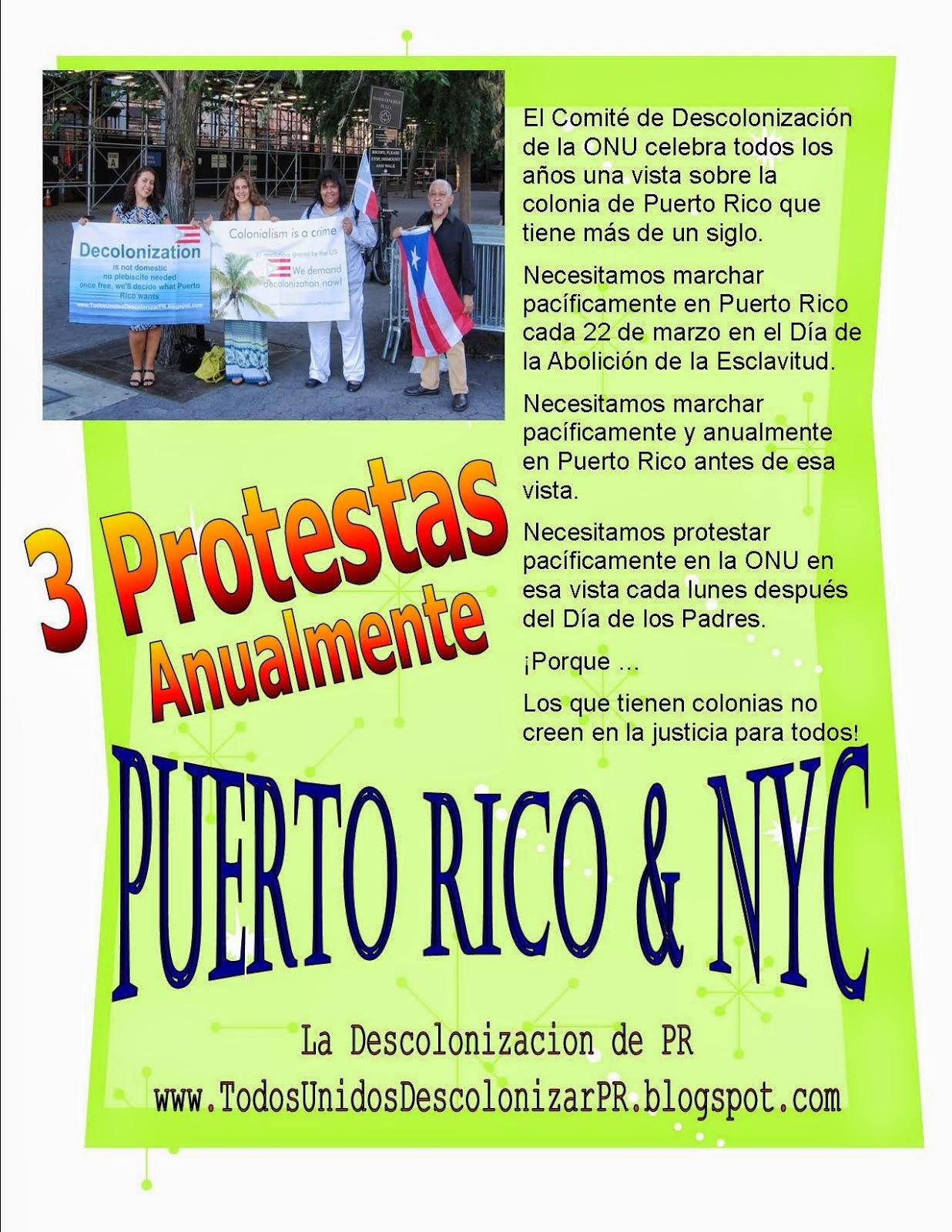 3 Protestas Anualmente