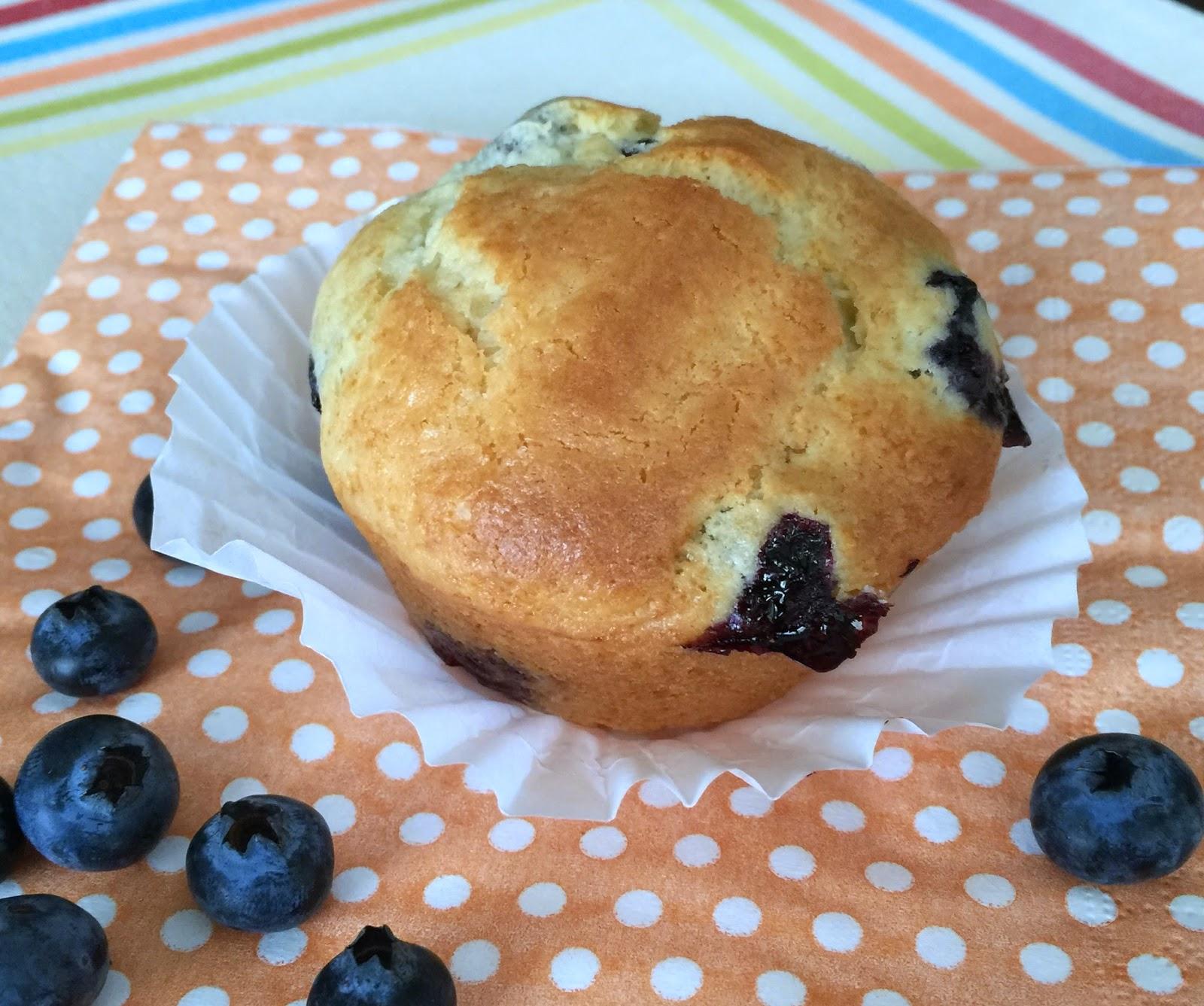 Sugar Spice and Spilled Milk: Blueberry Cream Muffins