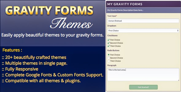 Gravity Forms Themes WordPress Plugin