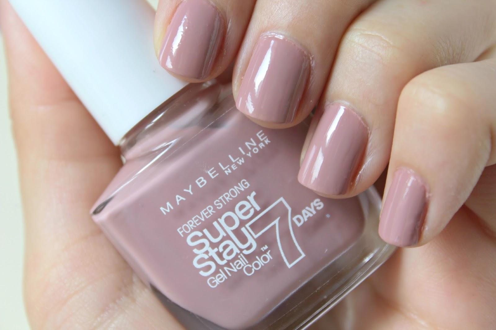Maybelline SuperStay 7 Day Gel Nail Polish | Rose Poudré | Beauty ...
