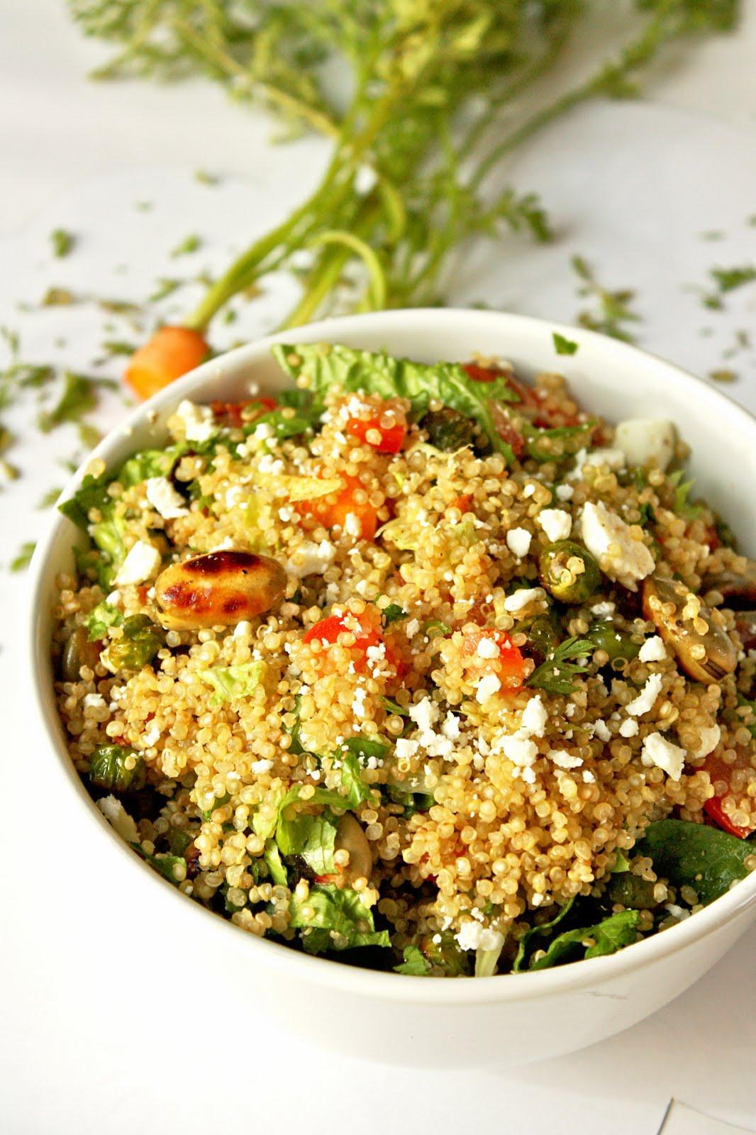 Sreelus Tasty Travels: Quinoa Salad loaded with Fava beans, fresh peas ...