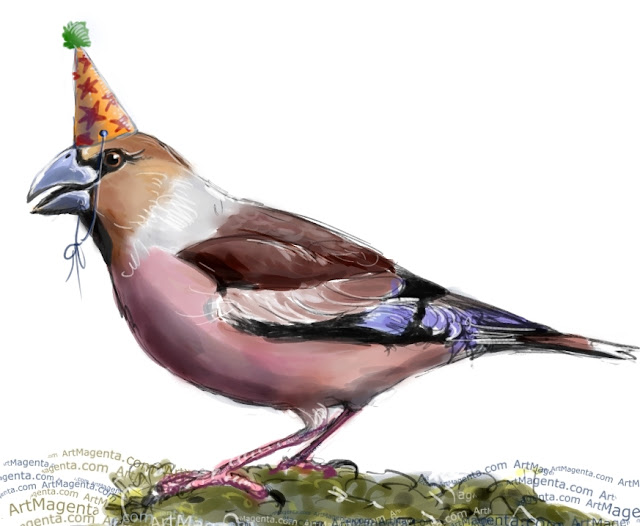 Party bird by Artmagenta