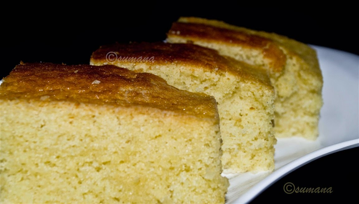 simple cake with vanilla essence