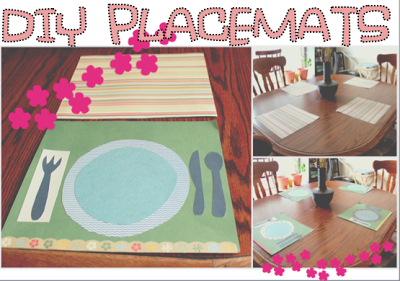 Table Setting DIY Kids Project Placemats