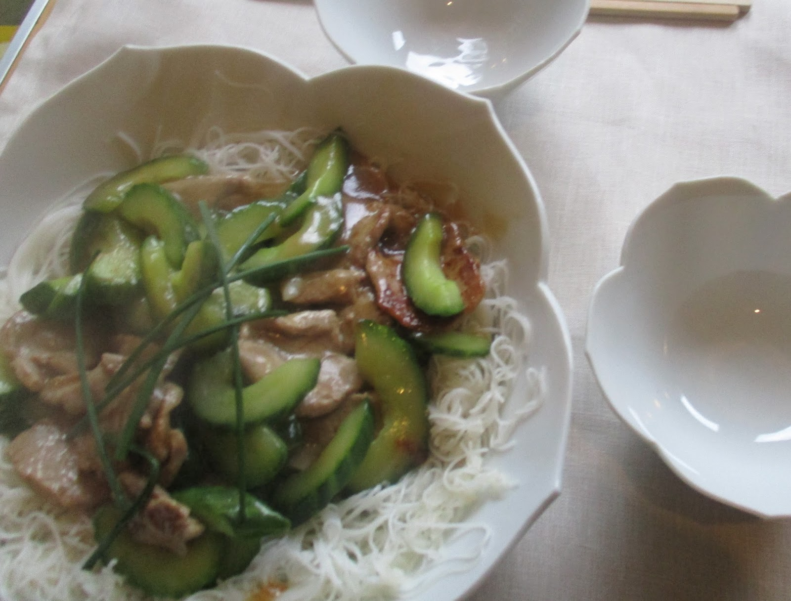 how to cook cucumber noodles