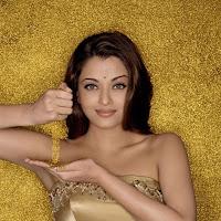Aishwarya rai in golden dress