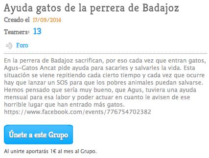 Teaming de Ayuda a los Gatos de la perrera de Badajoz - ayuda con 1€/ mes
