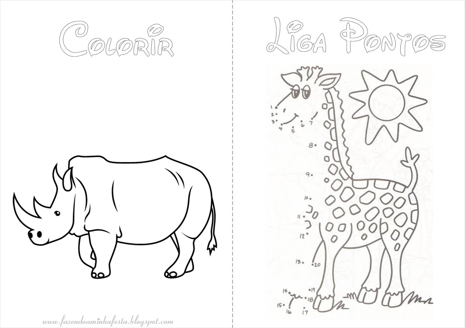 Fazendo A Nossa Festa Colorir Safari Livrinho De